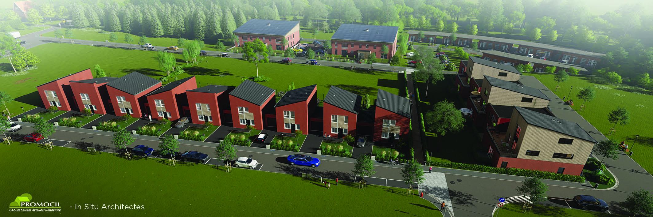Logements à Feignies : 73 logements en construction