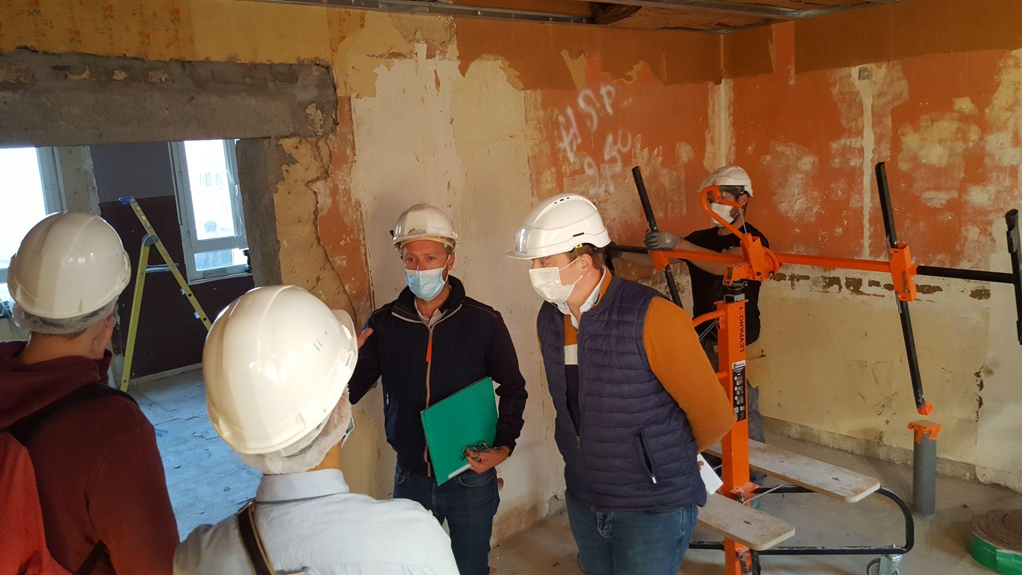 visite de chantier à Caudry