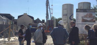 ANRU visite du chantier de l'ilot 21